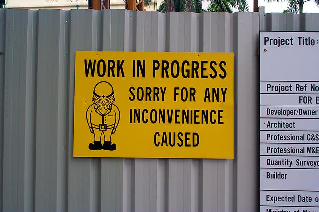 ...auch bei uns ist gerade 'Baustelle' ;-)