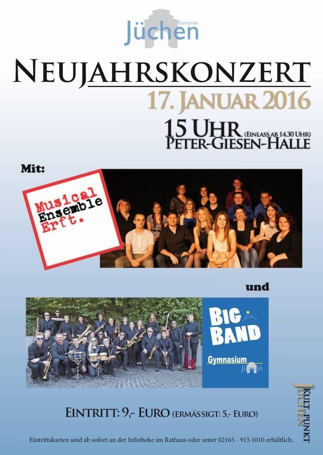 Plakat zum Neujahrskonzert 2016, (c)Gemeinde Jüchen