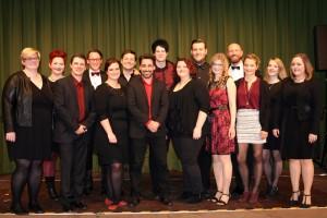 Die Musicalgruppe beim Neujahrskonzert 2016 in Jüchen.