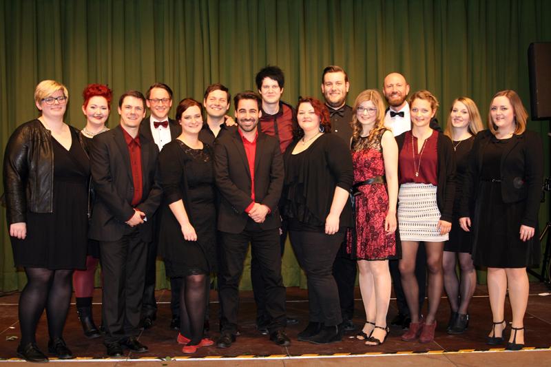 Unser Ensemble beim Neujahrskonzert 2016 in Jüchen.