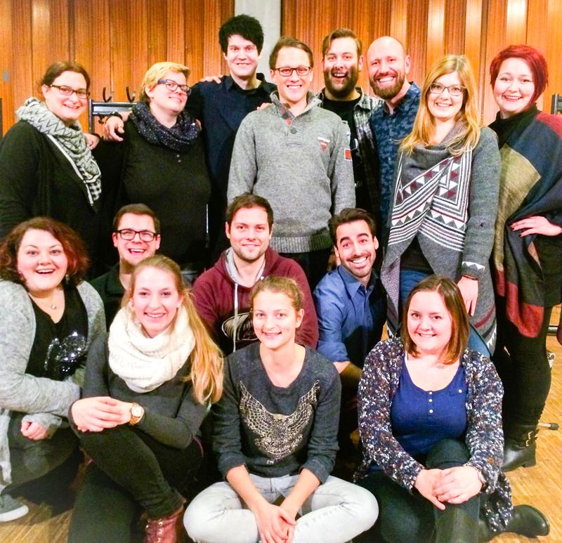 Generalpprobe für das Neujahrskonzert in Jüchen - das Musical Ensemble Erft ist bereit!