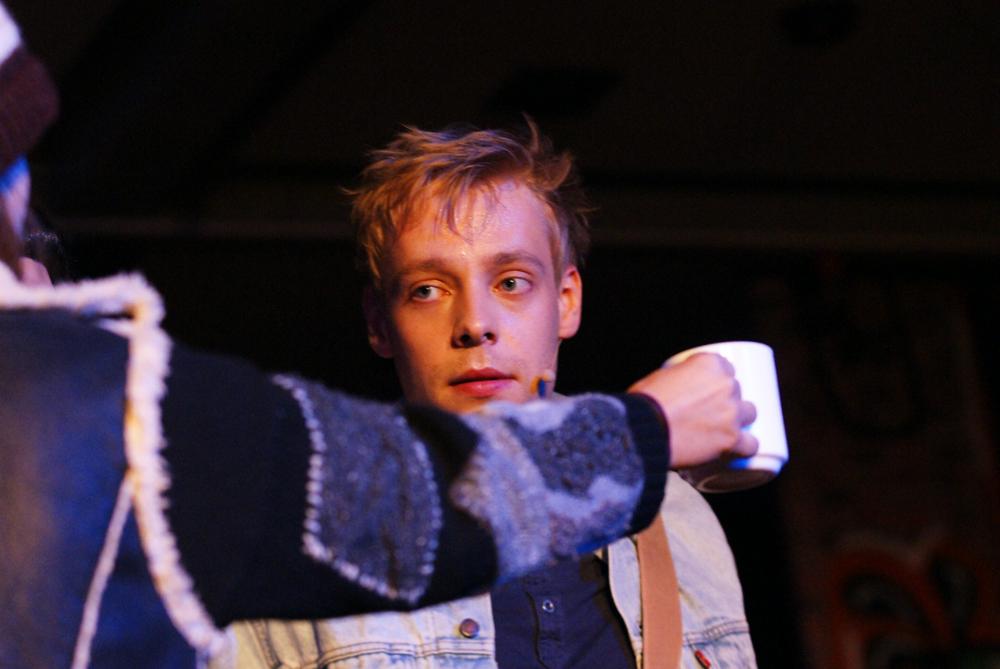 """Auf der Straße"" - Oliver Morschel - RENT - Musical Ensemble Erft, September 2012, Kerpen - (c)Bernd Woidtke"