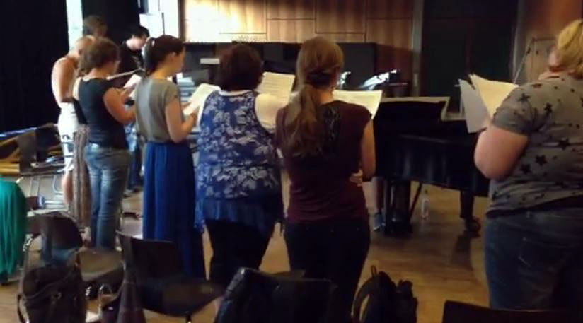 """Chorprobe """"Songs For A New World"""""""