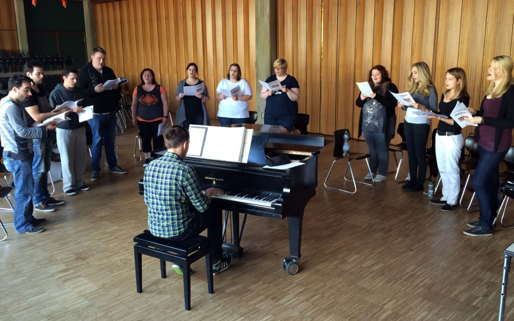 Gesangsworkshop des Musical Ensemble Erft