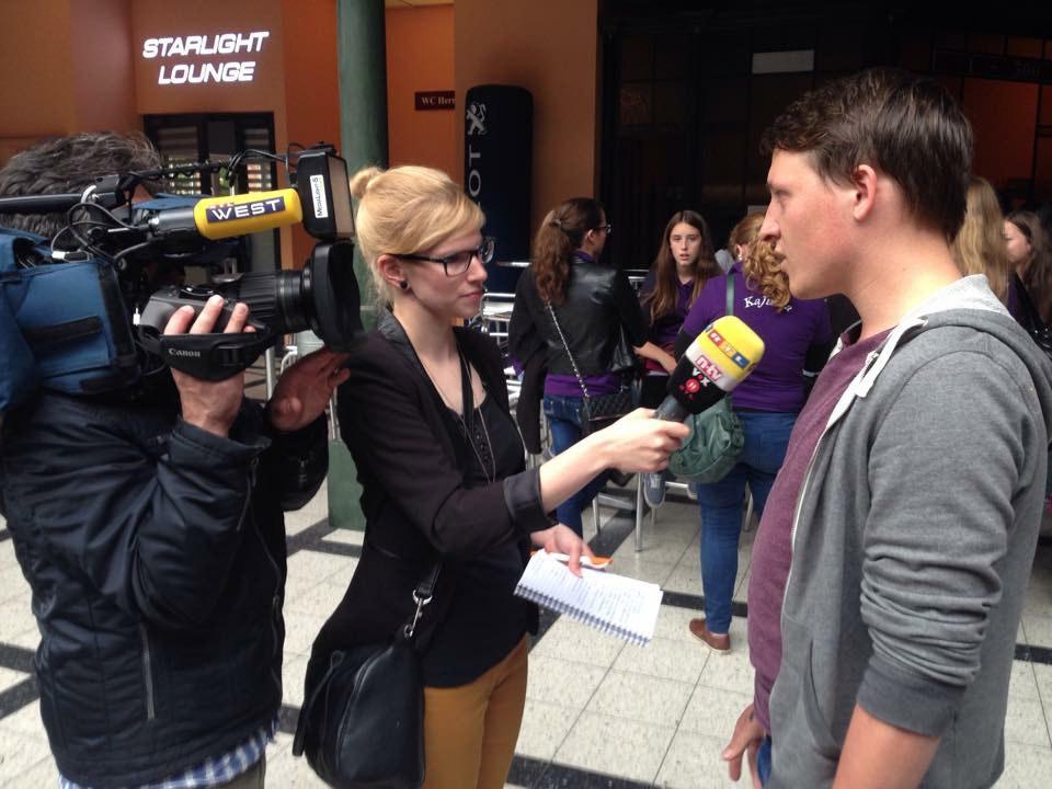 Ein Kamerateam von RTL WEST begleitete uns bei der Probe