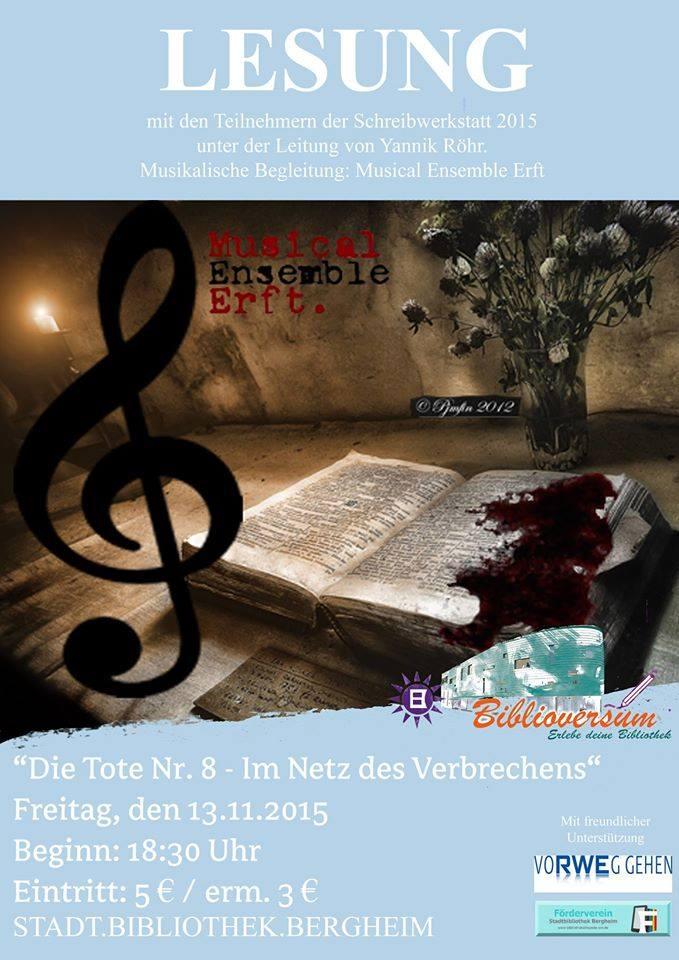Plakat zur Lesung, (c)Stadtbibliothek Bergheim