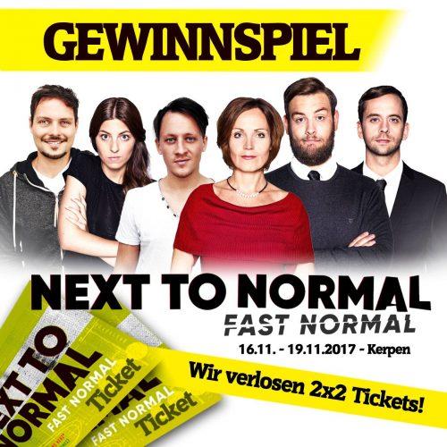 Tickets für NEXT TO NORMAL gewinnen!