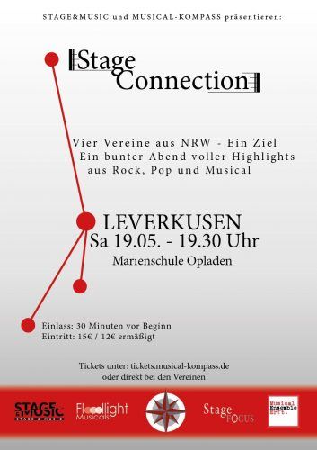 Am 19.5. singen wir bei der STAGE CONNECTION!