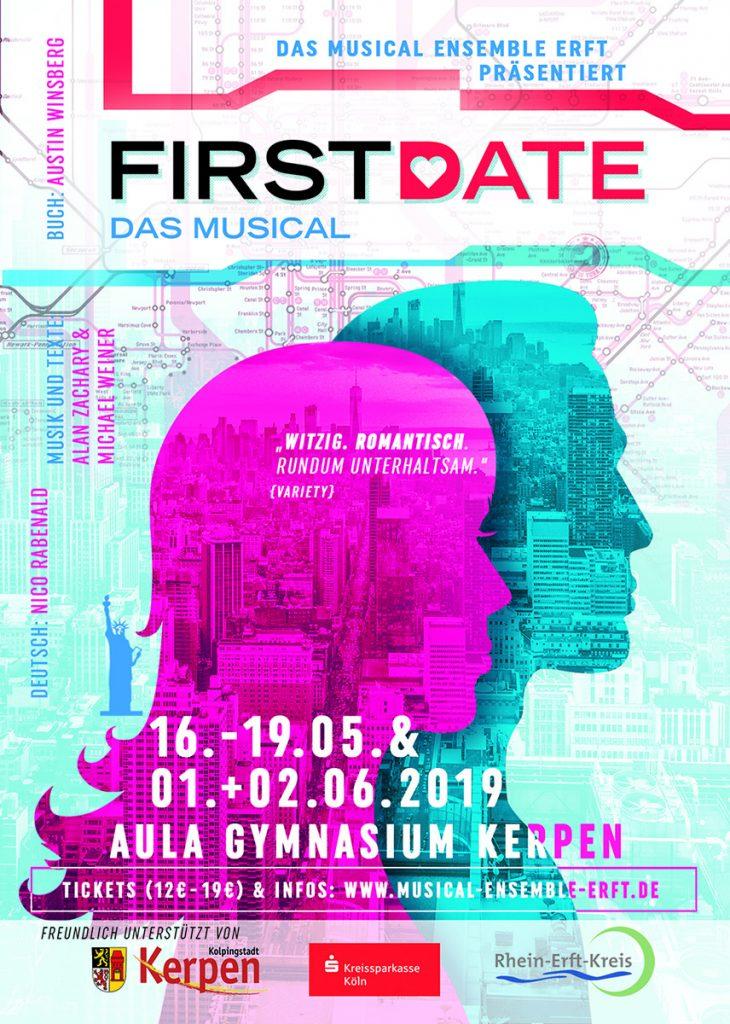 Artwork Musical FIRST DATE - Musical Ensemble Erft - Design: Thomas Atzenbeck